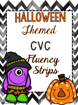 Halloween-Themed CVC Growing Fluency Bundle