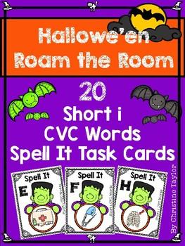Halloween Themed CVC Short i Spell It Roam the Room Cards