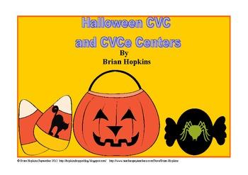 Halloween Themed CVC/CVCe themed Games and Word Sorts
