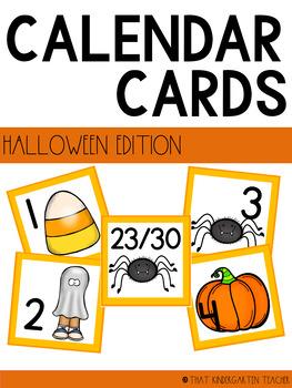 Halloween Themed Calendar Cards
