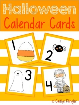 Halloween Themed Calendar Cards