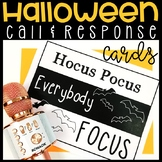 Halloween Themed Call & Response Behavior Management Cards