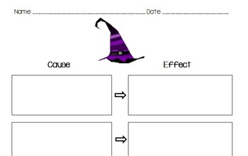 Halloween Themed Cause and Effect Graphic Organizer