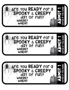 Halloween Themed *Classroom Transformation* Tickets