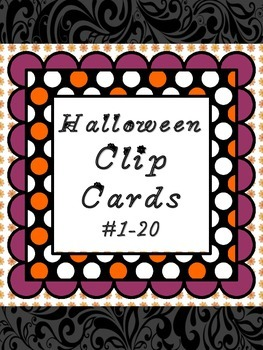 Halloween Themed Clip Counting Cards (Numbers 1-10)