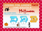 Halloween Coding PACK for Juniors – Using Scratch Jr, notes, answer key, 21 pgs