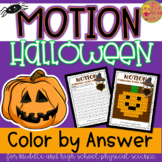 Motion Word Problems Color-by-Number (Halloween Themed Activity)