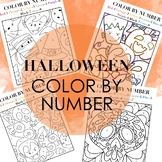 Halloween Themed Color by Numbers