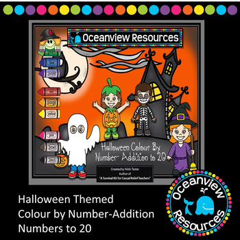 Addition to 20 -Halloween Themed Colour by Number-