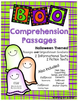 Halloween Themed Comprehension Passages and Questions with