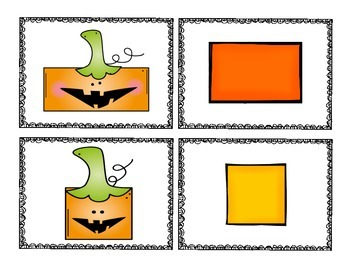 Halloween-Themed Concentration Games for Math Rotations