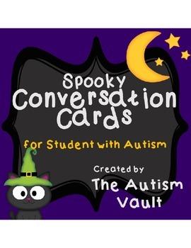 Halloween/Fall/Autumn Conversation Cards Speech Game Activ