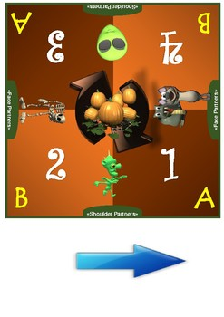 Halloween Themed Cooperative Learning Mat Set