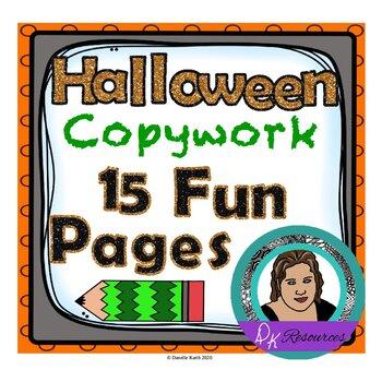 Halloween Themed Copywork to Make Practicing Penmanship Fun!