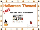 Halloween Themed FREEBIE: Count and Write How many?