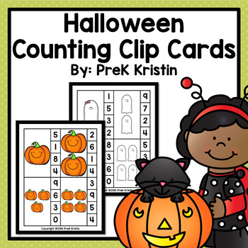 Halloween Themed Counting Clip Cards