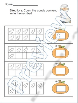 Halloween Themed Counting Pack!