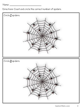 Halloween-Themed Counting Spiders.