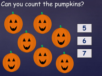 Halloween Themed Counting To 10 Activity.