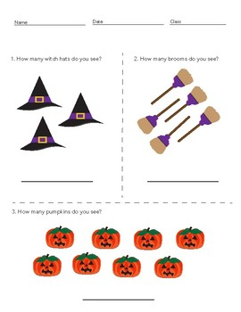 Halloween Themed Counting Worksheet