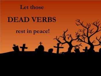Halloween Themed Dead Verbs and Zombie Survival Guide Mini-Units