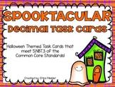 Halloween Themed Decimal Task Cards