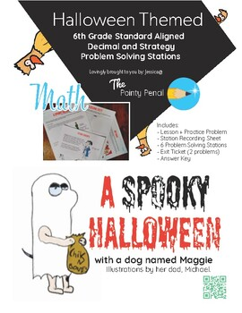 Halloween Themed - Decimals and Strategy Problem Solving Stations