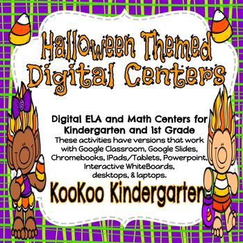 Halloween Themed Digital Center Bundle