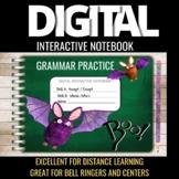 Halloween Themed Digital Interactive Notebook Grammar Practice