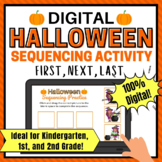 Halloween Themed Digital Sequencing Activity for 1st Grade and Kindergarten, 2nd