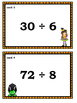 Halloween Themed Division Task Cards for Elementary Students