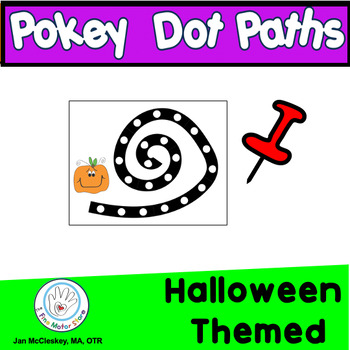 Fine Motor Halloween Themed Dotted Punch Dot Skills Labs f