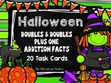 Halloween Themed Doubles & Doubles Plus One Task Cards/Roa