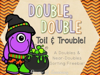 Halloween-Themed Doubles and Near Doubles Sort