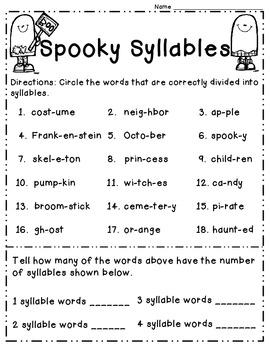 Halloween Math and English Language Arts