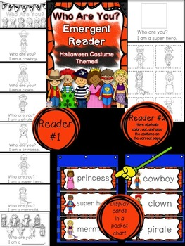 Halloween Themed Emergent Reader - Who Are You?