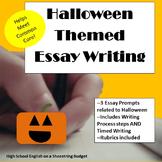 Halloween Themed Essay Writing, w Rubrics & Printables