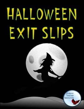 Halloween Themed Exit Slips Ticket Out