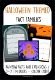 Halloween Themed Fact Families, Rainbow Facts, Timetables,