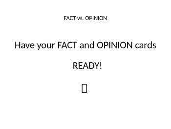 Halloween Themed Fact vs. Opinion game