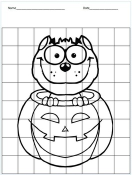 Halloween Themed Finish the Symmetrical Drawing for G/T and Early Finishers