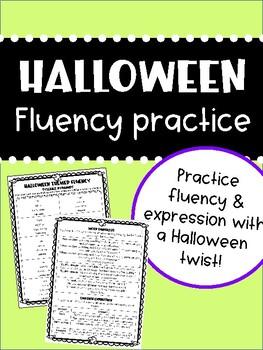 Halloween Themed Fluency Practice