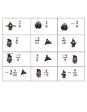 Halloween Themed Fraction Cards