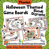 Blends and Digraphs - Halloween Themed Game Boards