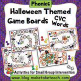 CVC Words - Halloween Themed Game Boards