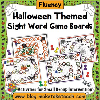 Sight Words - Halloween Themed Game Boards