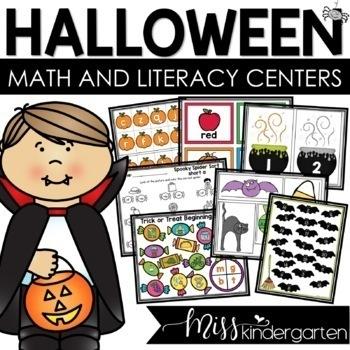 Halloween Themed Games and Centers {kindergarten}