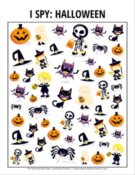 Halloween Themed I Spy Games Pack