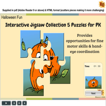 Halloween Themed Interactive Jigsaw Puzzles Collection PK