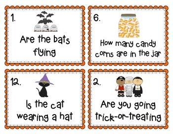 Halloween Themed Interrogative and Declarative Sentences